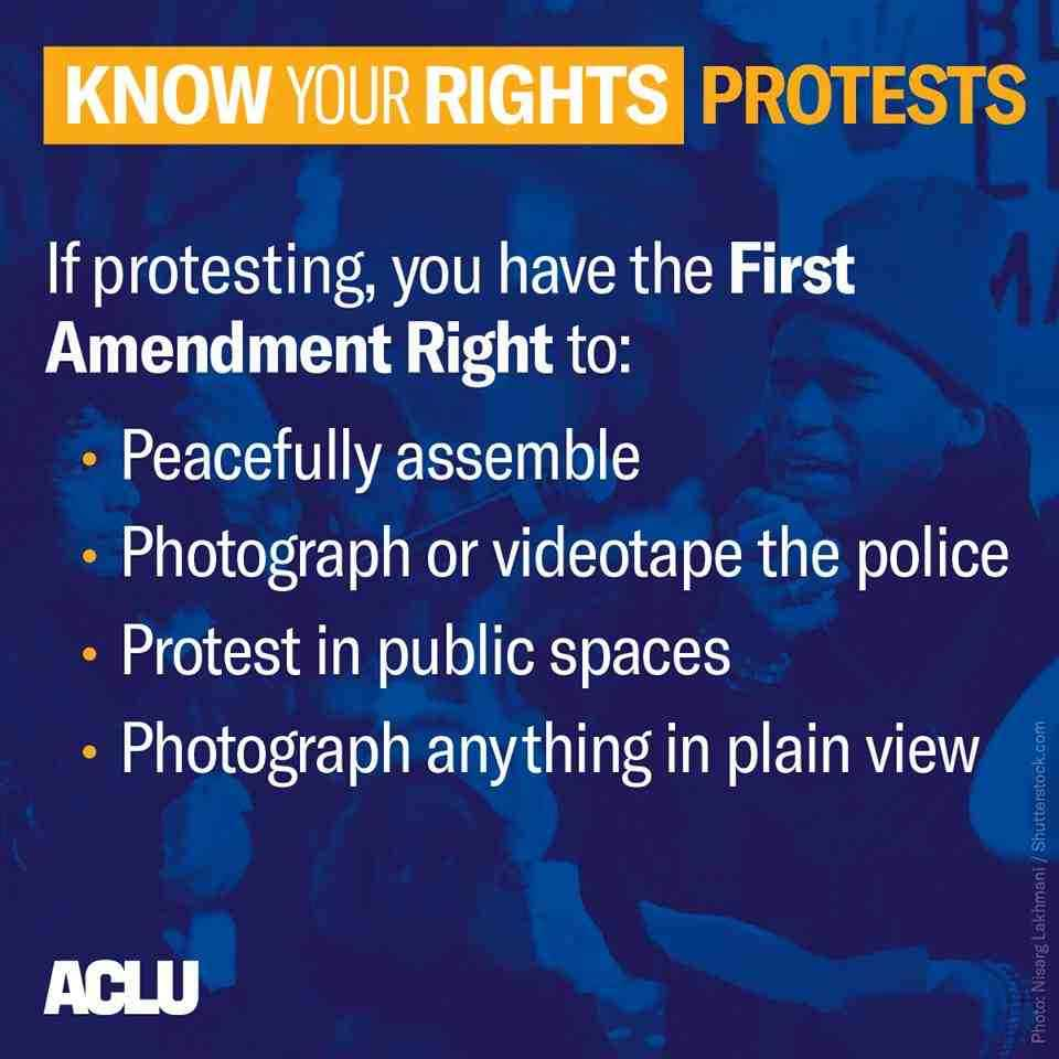 Protests- Know your rights