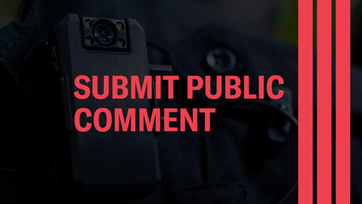 Submit public comment
