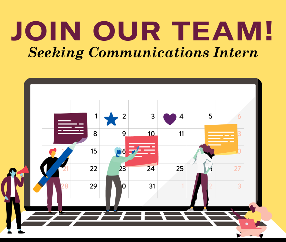 Join our team! Seeking Communications Intern