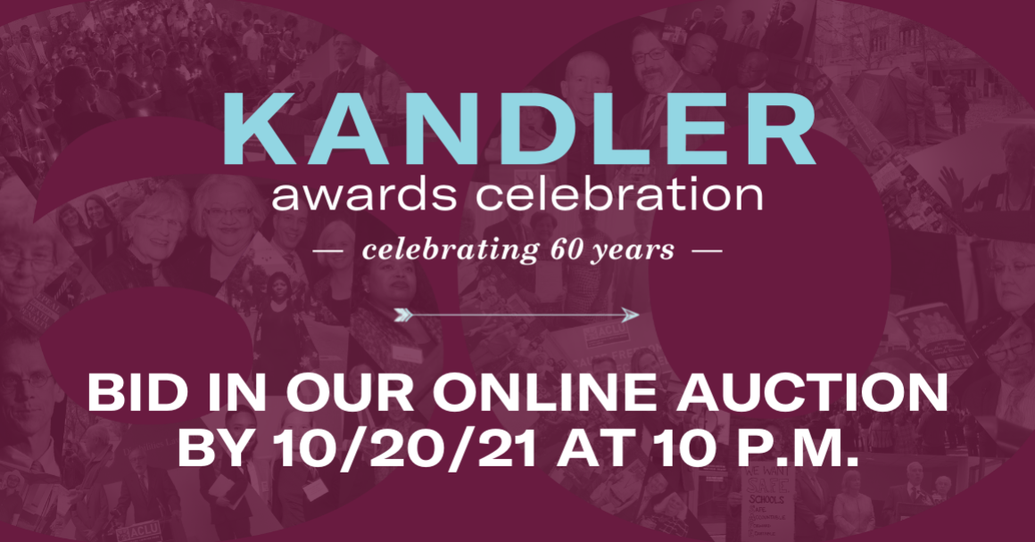 Kandler Awards Celebration: Bid in our online auction by 10/20/21 at 10pm